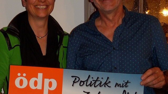 links Rosi Reindl, rechts Ludwig Maier